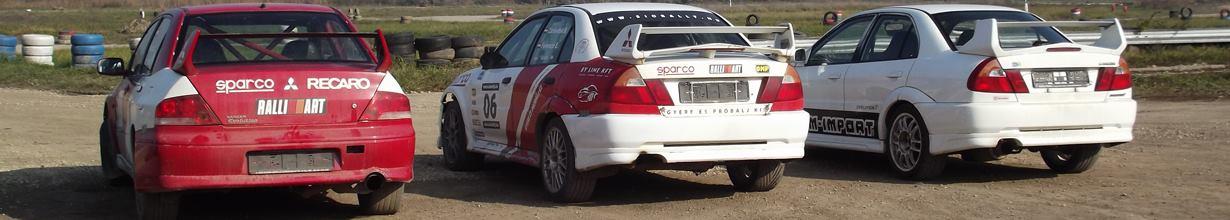 Mitsubishi EVO rally élményvezetés